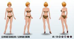 Charade - Leopard Bandeau Leopard Bikini