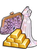 GoldDeal - 170407 - Lavender Love Gown - Lavender Peacock Clutch