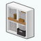 OfficePlaceDecor - Two by Two Bookshelf
