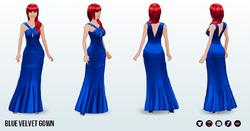 ScavengerHunt - Blue Velvet Gown