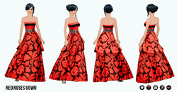 RedAndBlack - Red Roses Gown