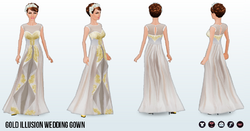 JuneBride - Gold Illusion Wedding Gown