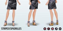 GirlNextDoorSpin - Striped Espadrilles