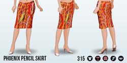 FlightsOfFancy - Phoenix Pencil Skirt