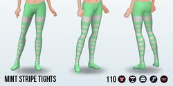 Urbanite - Mint Stripe Tights