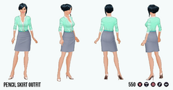CitySophisticate - Pencil Skirt Outfit gray