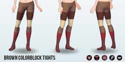 CitySpree - Brown Colorblock Tights