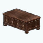 AmericanColonialDecor - Golden Handles Coffee Table