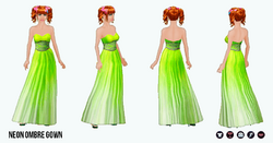 PopStar - Neon Ombre Gown