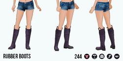 VineyardHarvestSpin - Rubber Boots purple