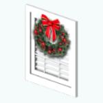 CafeRaffle - Boxwood Wreath Window