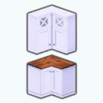 WhiteKitchenDecor - White Kitchen Corner Cabinet
