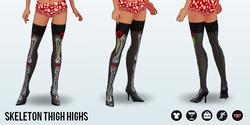 DiaDeLosMuertosSpin - Skeleton Thigh Highs