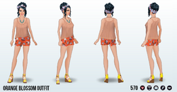 PoolPartySpin - Orange Blossom Outfit