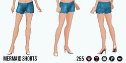 ModernStorybook - Mermaid Shorts blue