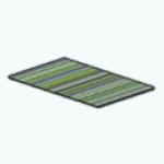CafeRaffle - Green Multi Stripes Rug