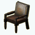 AmericanColonialDecor - Wooden Beads Armchair