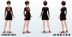 BarcelonaNightsSpin - Flower Net Dress