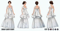 YuleBall - Snow Flurry Gown