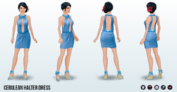 StressAwarenessMonth - Cerulean Halter Dress