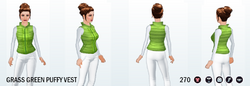 CelebrateGreenerySpreeSpin - Grass Green Puffy Vest