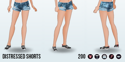 GirlNextDoorSpin - Distressed Shorts