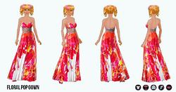 SpringBreak - Floral Pop Gown