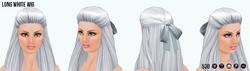 MonsterBash - Long White Wig