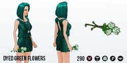 StPatricksDay - Dyed Green Flowers