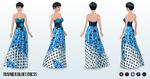 RestaurantWeek - Summer Blues Dress