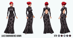 TheVault - Lace Embroidered Gown