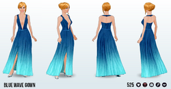 CafeRaffle - Blue Wave Gown