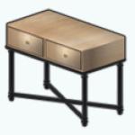 WinterGlamDecor - Oak Console Table