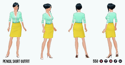 CitySophisticate - Pencil Skirt Outfit yellow