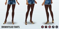 PrettyWardrobe - Brown Plaid Tights