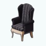BarcelonaNightsSpin - Velvet Striped Armchair