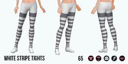 Urbanite - White Stripe Tights