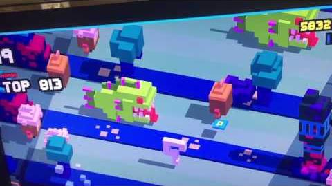 Question Mark in Moana World on Disney Crossy Road (Apple TV)