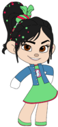 Vanellope's Outfit & Badge with left Arm out