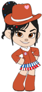 Vanellope as a Cowgirl with Cowgirl Hat