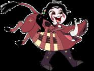 Vanellope dressed as Pumbaa 2