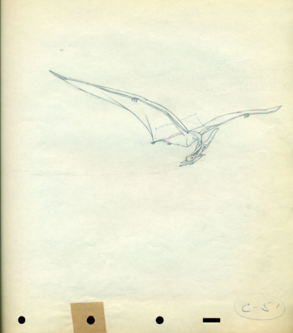 File:Fantasia Pterodactyl cel Disney production Drawing 1940.png