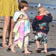 Jaxon and jasmine at the beach
