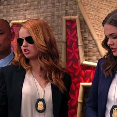 Detective Prescott with her assistant Michaels.