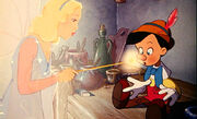 Pinocchio and blue fairy