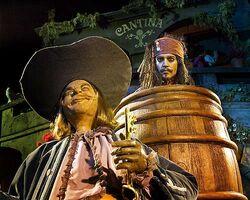 Jack Sparrow Hiding in Barrel