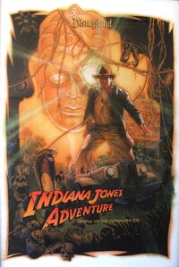 Indiana Jones Temple of the Forbidden Eye Poster