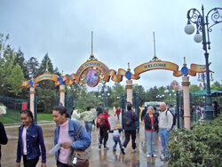 Entrance of Disneyland Paris