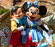 Tokyo Disneyland Pinocchio and Minnie Mouse