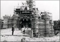 Disney castle in construction